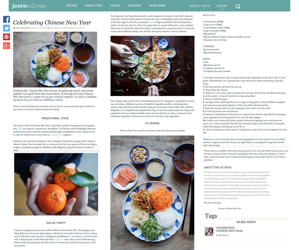 Jamie Oliver: Chinese New Year feature, February 2016