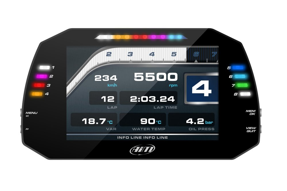 AIM MXG DASH DISPLAY WITH 4GB LOGGING AND GPS INCLUDED