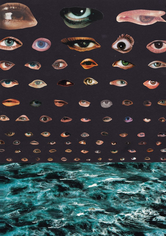 """There is More (than eyes can see) 1"" Collage 2015 125 Euros 20 x 27 cm"