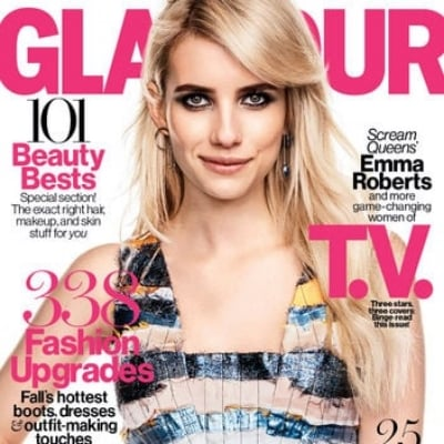 Glamour October 2015 Cover: Emma Roberts