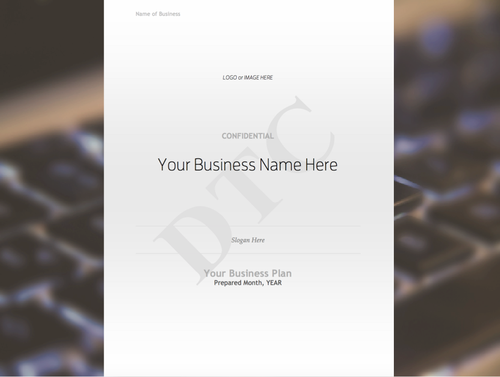 Business plan template with sample content digital template creations business plan template with sample content accmission Image collections