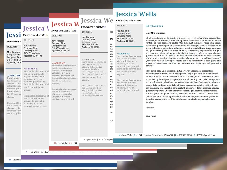 The Contemporary Resume Template Digital Template Creations