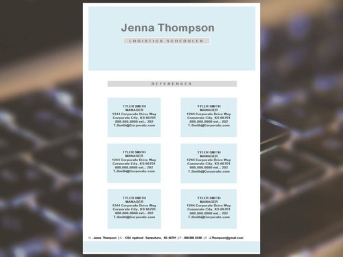 The Flow Resume Template, Cover, References, and Thank You Letter ...