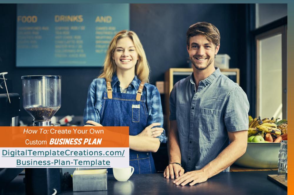 Business Plan Template Digital Template Creations