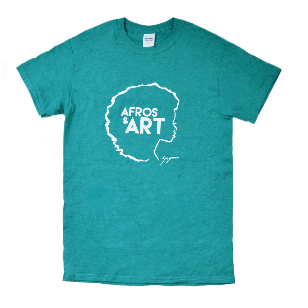 'afros & art' tee