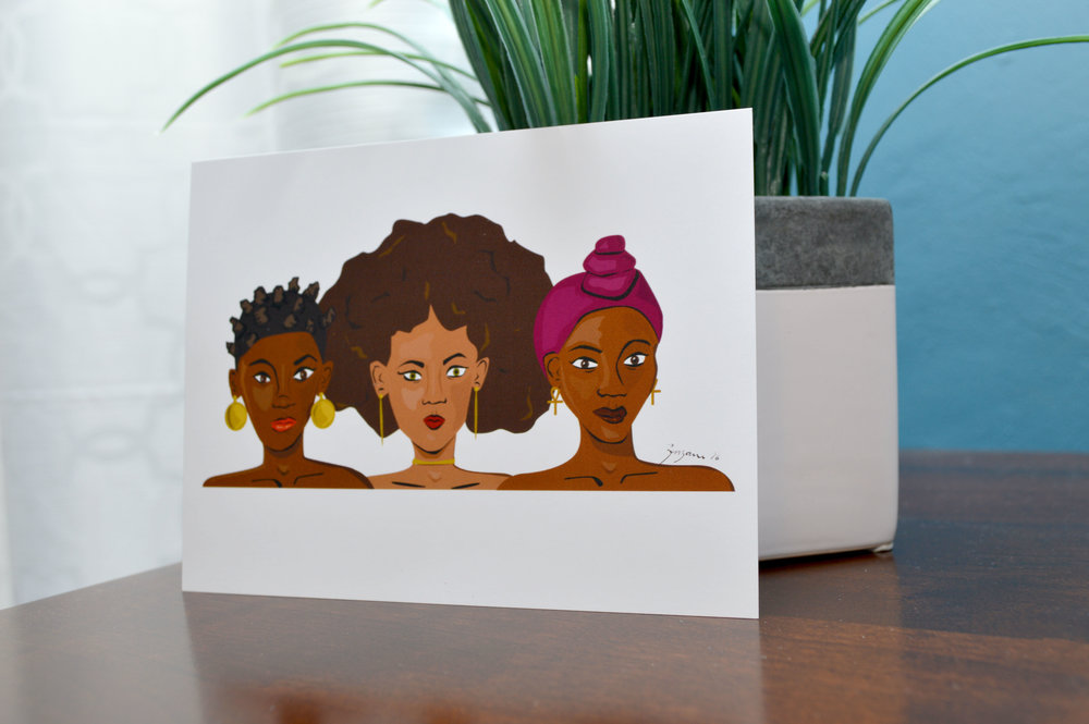 'unapologetically black' mini print