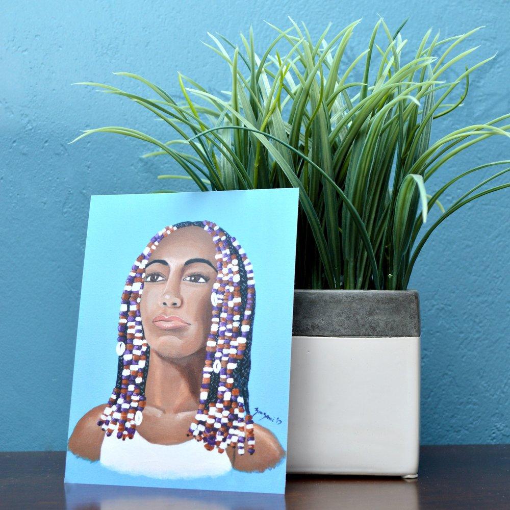 Hair Beads Mini Print