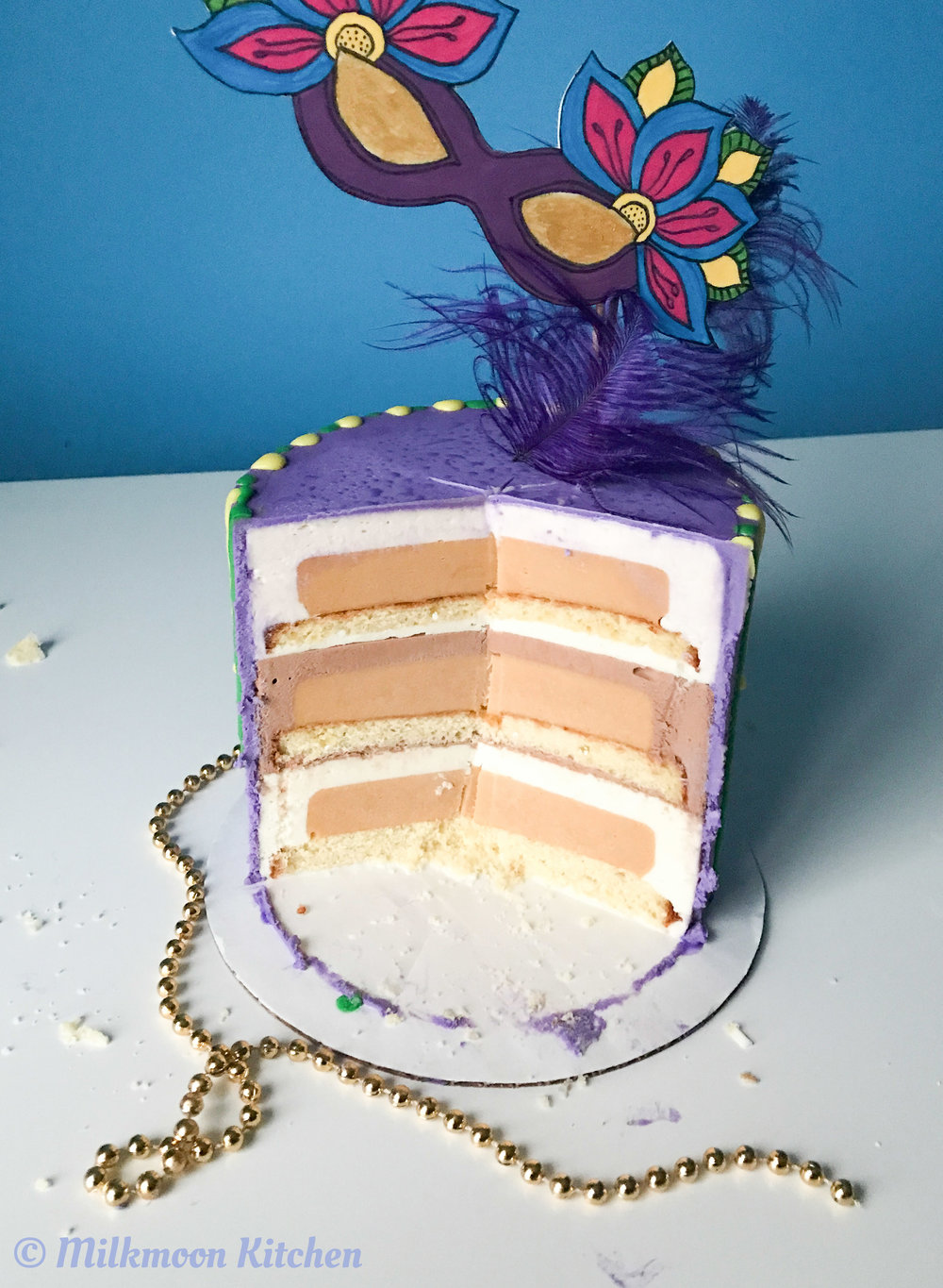 Mardi Gras Mousse Cake by Milkmoon Kitchen