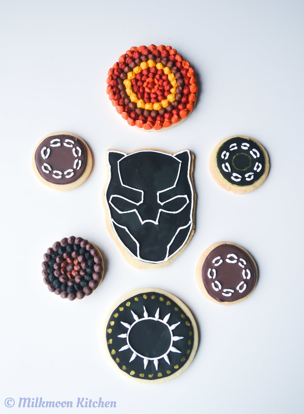 Black Panther Cookies by Milkmoon Kitchen