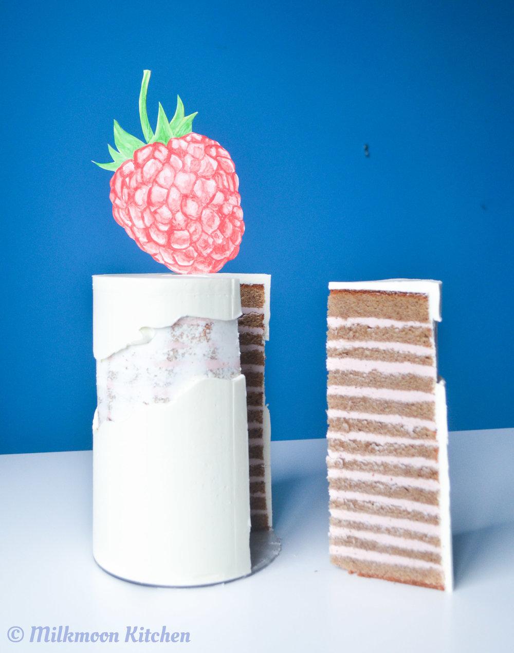 Raspberry Almond Cake by Milkmoon Kitchen