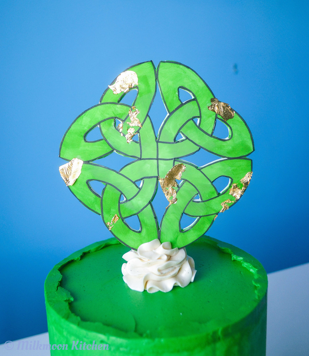 Celtic Knot Cake by Milkmoon Kitchen