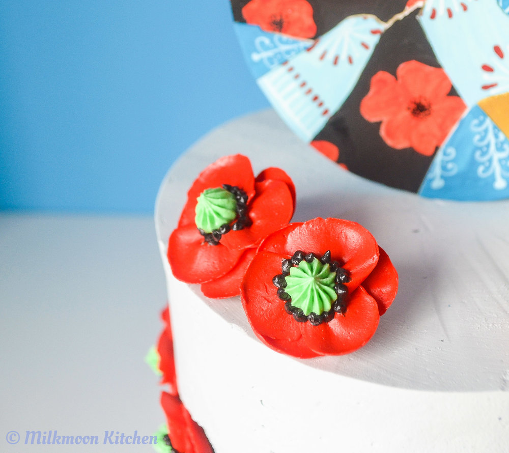 Lemon Poppy Seed Pysanka Cake by Milkmoon Kitchen