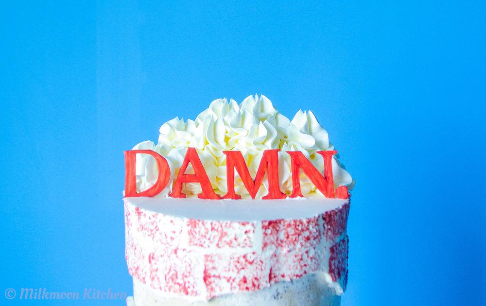 Kendrick Lamar DAMN. Cake by Milkmoon Kitchen