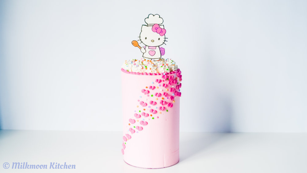 Hello Kitty Pink Funfetti Birthday Cake Milkmoon Kitchen