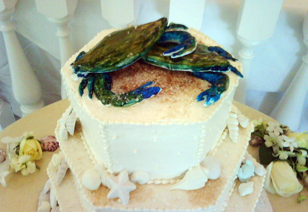 Crab Cake Topper - Maryland Blue Crab Wedding Cake