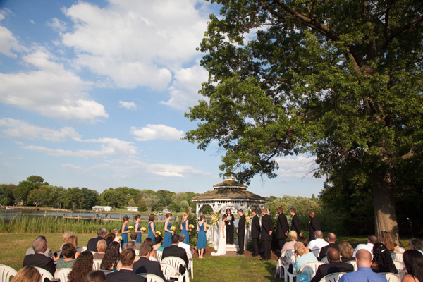 Wedding Ceremony at Kent Manor Inn, Stevensville, MD by Brian Slanger