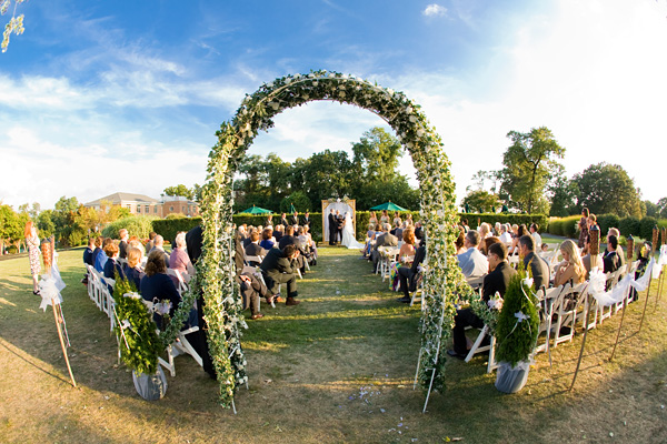 Army Navy Country Club Wedding Ceremony by Jason Weil
