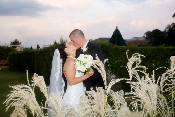 Army Navy Country Club Wedding Kiss by Jason Weil