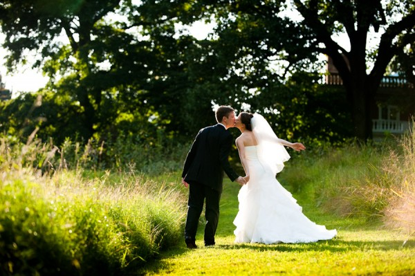 Woodend Sanctuary Wedding Kiss by Vesic Photography