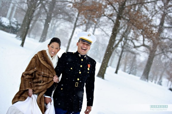 Annapolis Wedding Snow by egomedia photography