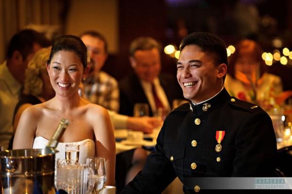 Navy Stadium Wedding by egomedia photography
