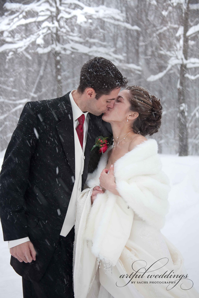 Wedding in Baltimore Snow by Artful Weddings Sachs Photography