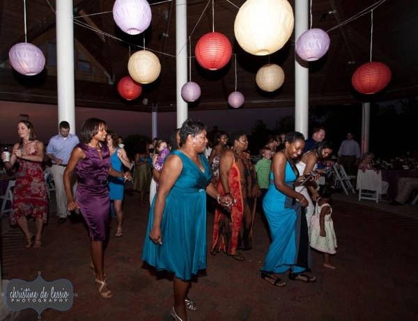 Hyatt - Cambridge, Maryland Wedding Reception Dancing Outdoor Pavilion
