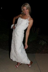 Toilet paper wedding dress winner