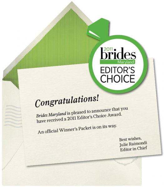 Bride's Maryland Editor's Choice Award