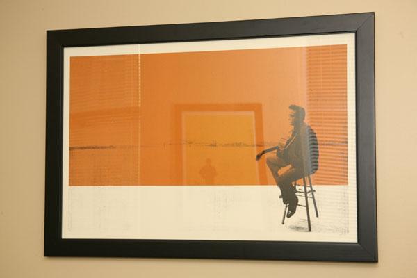 Johnny Cash Silkscreened Print
