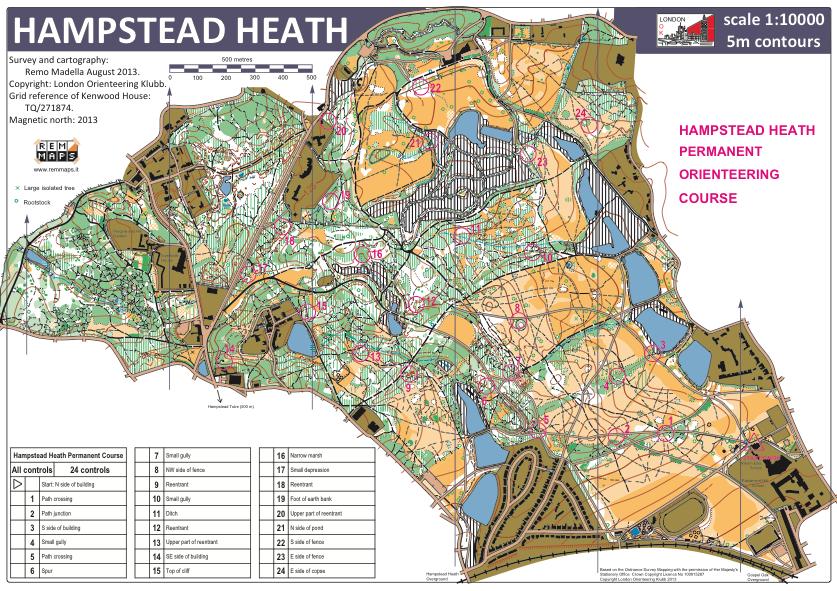 The Hampstead Heath Orienteering Map