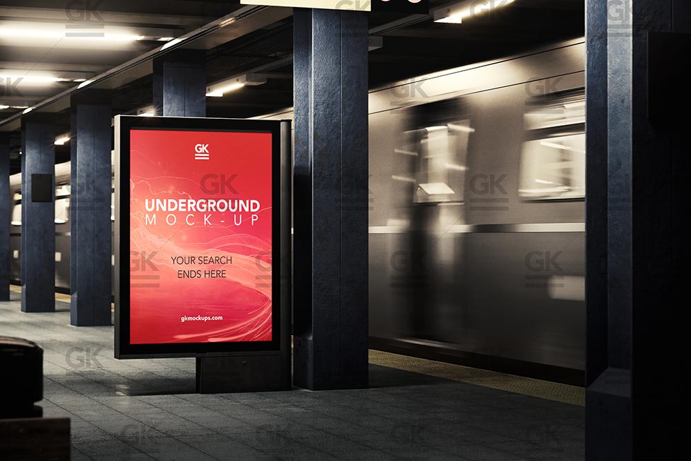 3d underground subway mock up animated edition gk creative mock ups. Black Bedroom Furniture Sets. Home Design Ideas