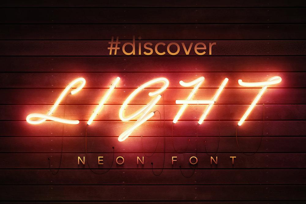 PSD Neon Font [11$]