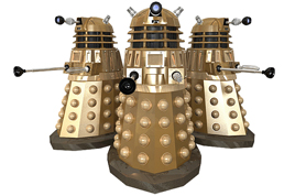 My Dalek - in 3 positions.