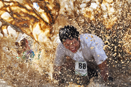 The Eat Dirt Mud Run at Eagle Church.