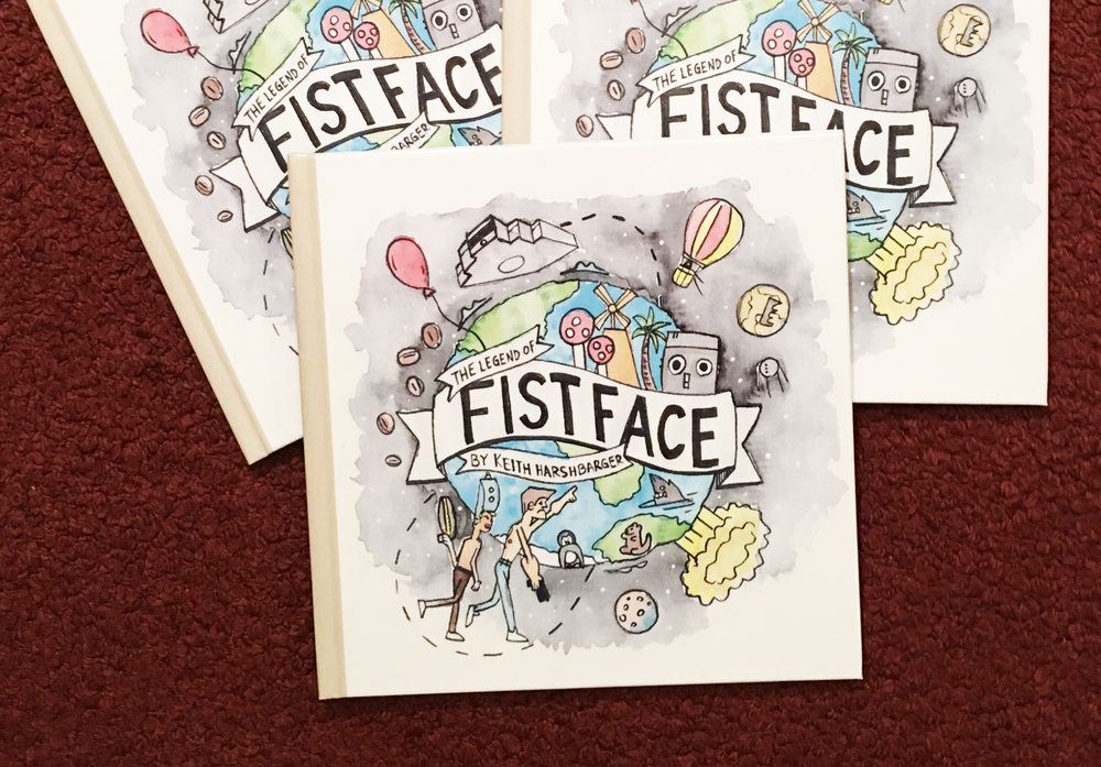 """Copies of   """"The Legend of Fistface""""   children's book."""
