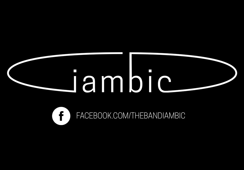 The bands logo. Sketched by one of the band members, Bryce. I took the sketch and cleaned it up for use on promotional items.   Find The Band IAMBIC on Facebook.