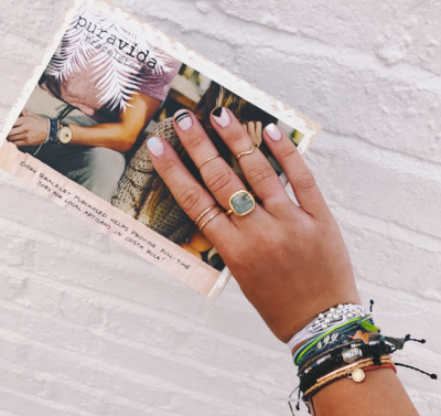 Join the purevida movement and stack your wrists with the summers freshest bracelets. Every bracelet purchased helps provide full-time jobs for local artisans in Costa Rica!