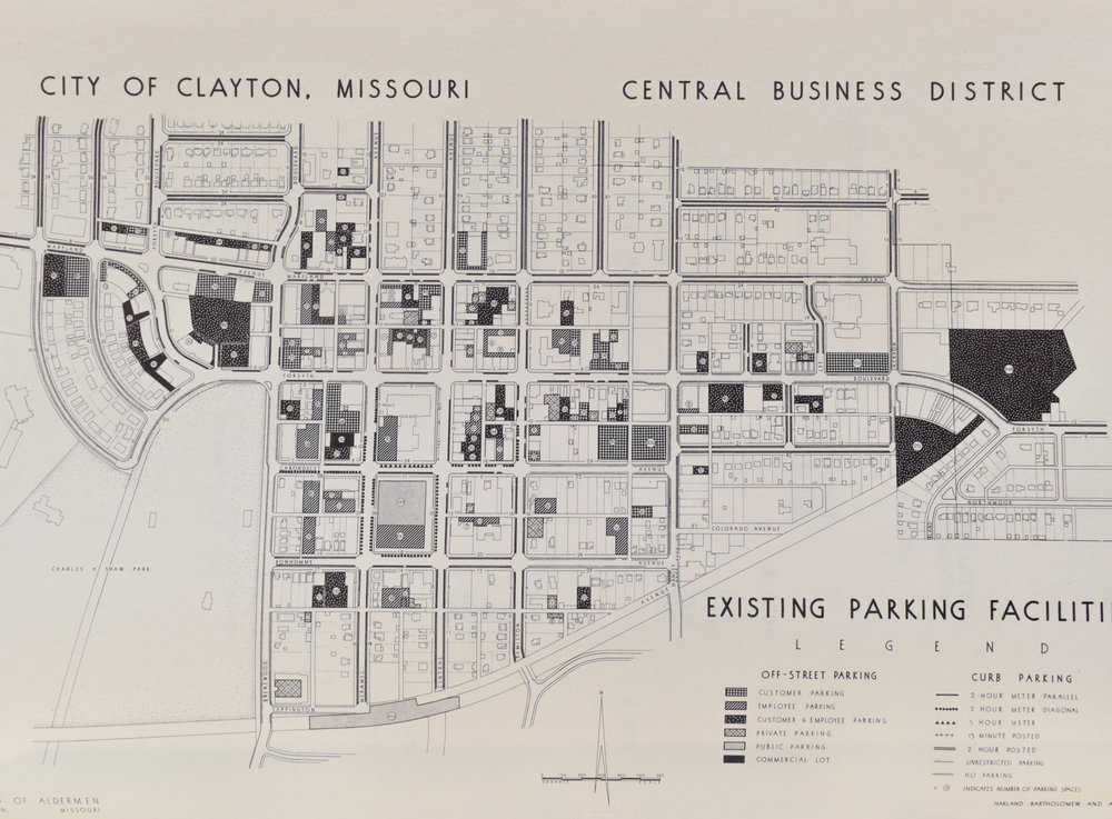 A Preliminary Report Upon the Central Business District, 1957,  Courtesy of Washington University Special Collections