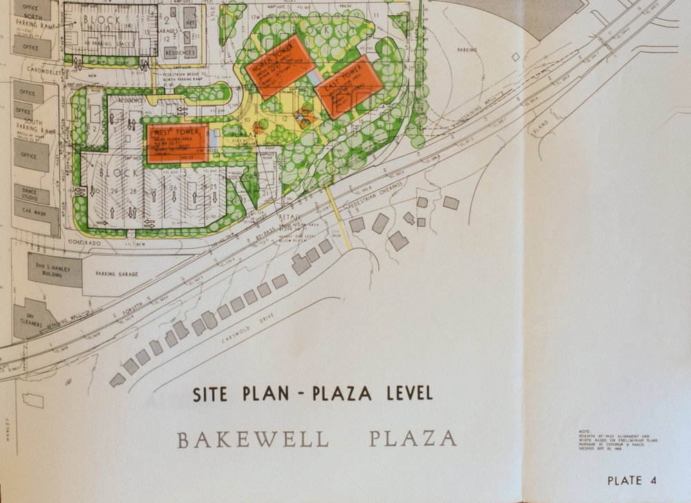 Bakewell Plaza Proposal, 1968,  C  ourtesy of Washington University Special Collections