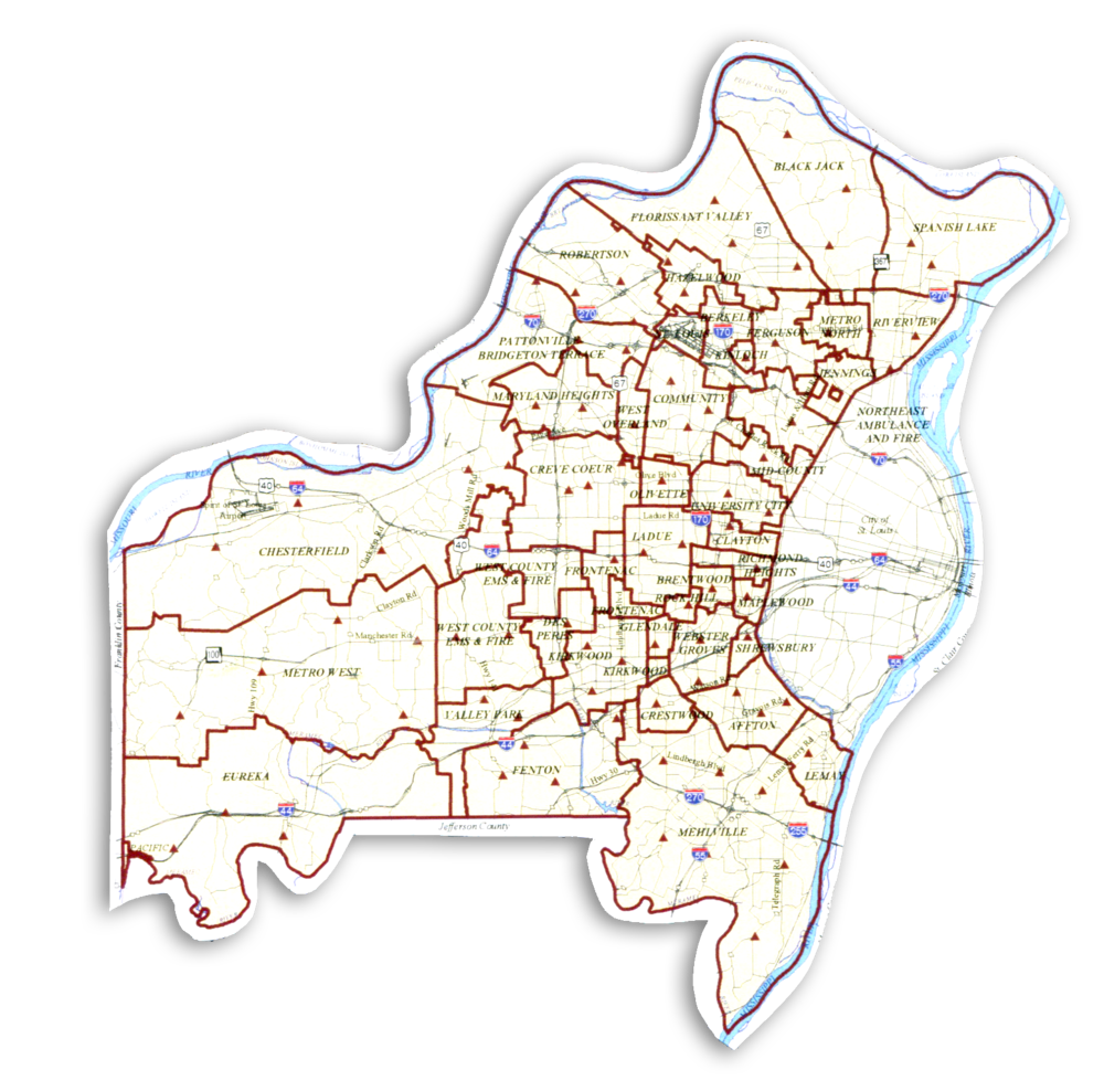 St. Louis, Fire district map