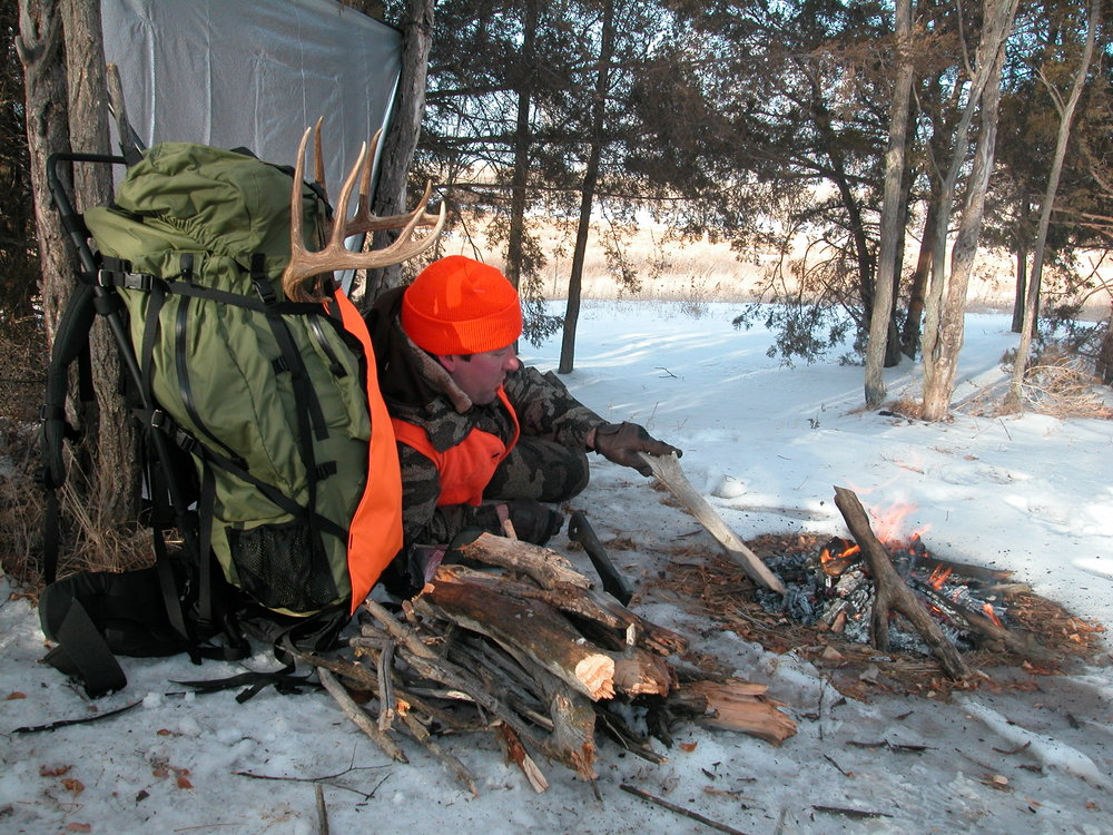 Basic survival supplies, like a space blanket and fire-starting materials, can help keep you relatively comfortable in a winter survival situation.