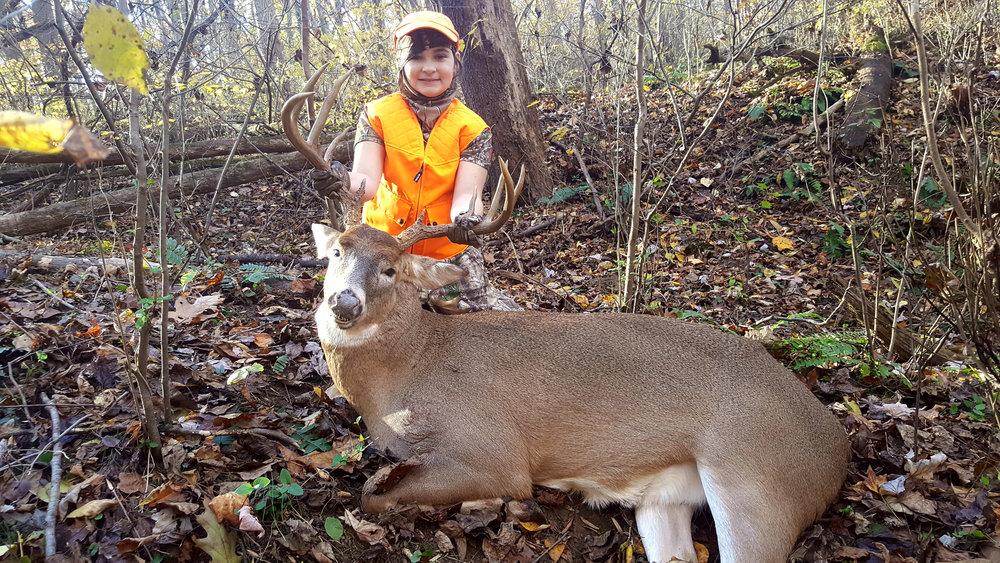 Jazlyn's 1st deer.jpg
