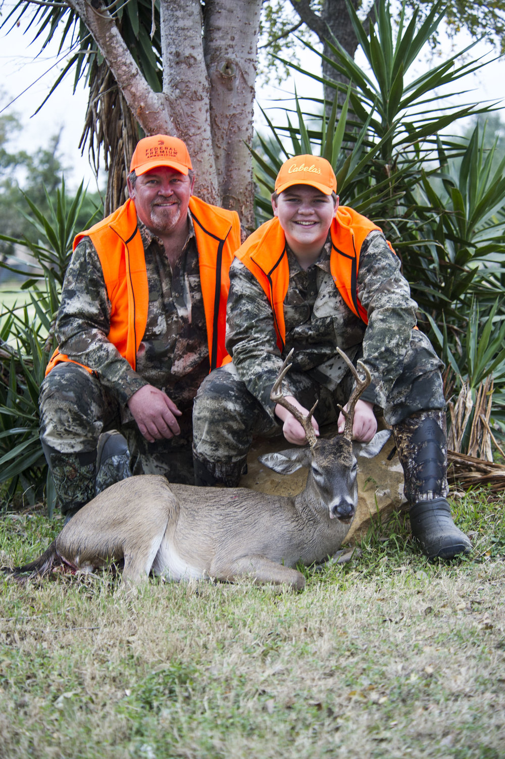 """- Mitchell and Blake Anderson from Rigby, ID, were all smiles after Blake took his first buck. Blake said, """"I was just hoping to be calm enough to shoot, but boy, was that exciting!"""" Mitchell chimed in, """"I was watching the deer and 'sheeblatt'—it went down instantly!"""""""