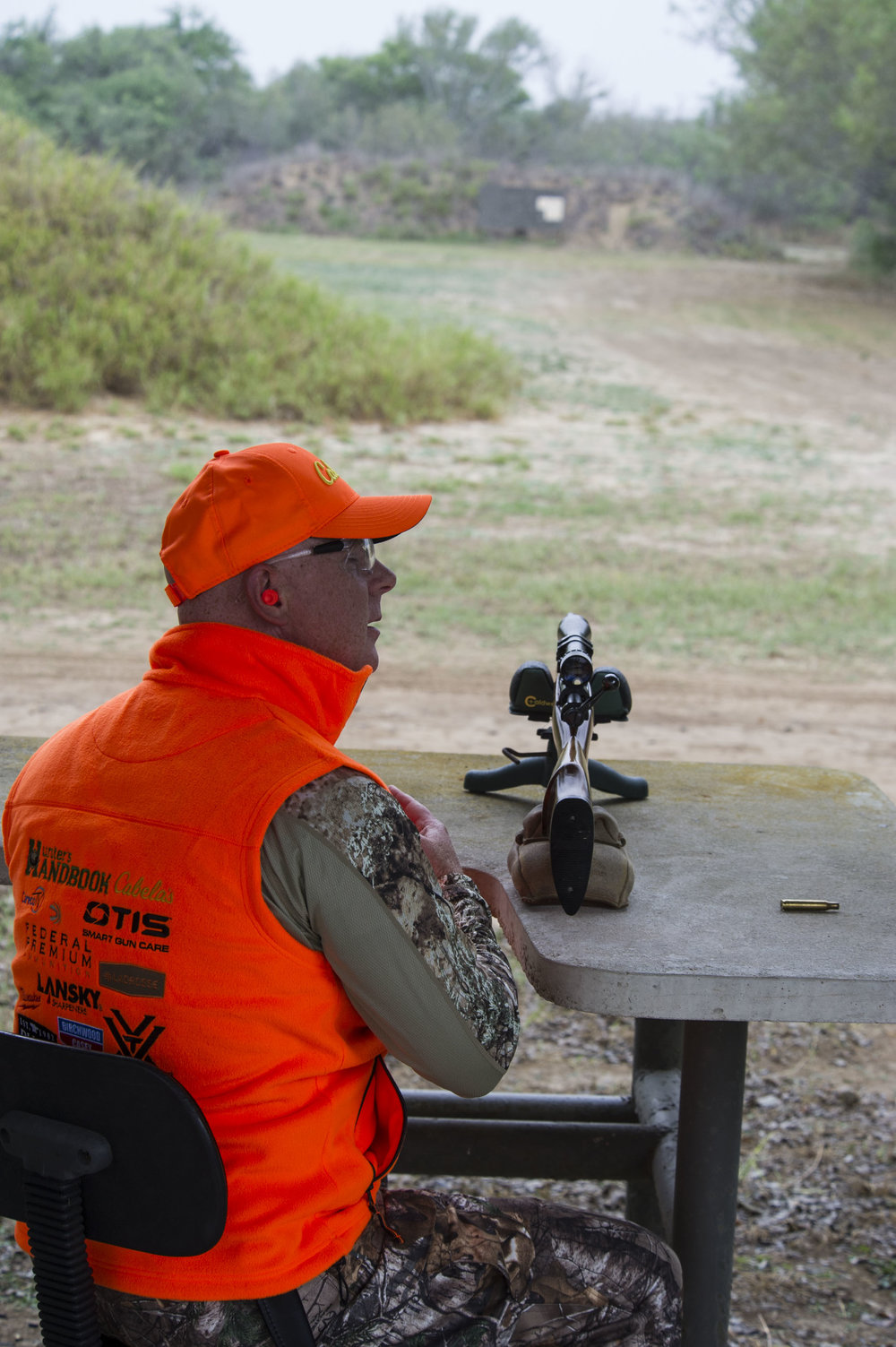 """- Instructor Michael McDonald from Arlington, WA, practiced hard and brought his own rifle on the hunt. """"Wanting to make sure I don't miss,"""" he said."""