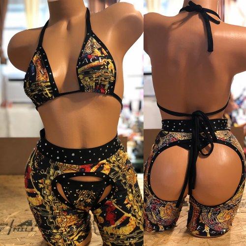 d97159e180e Exotic Dancewear -Black Cage Style One Piece.  18AC6506-C295-49A6-A7EE-2EFAC7965901.jpg.
