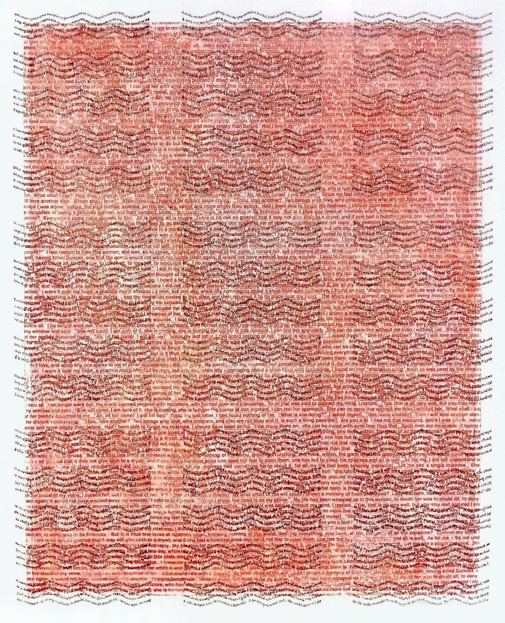 "Punishment / Reward,  graphite, ink, acrylic, gesso on paper,  9"" x 7"",  2014"