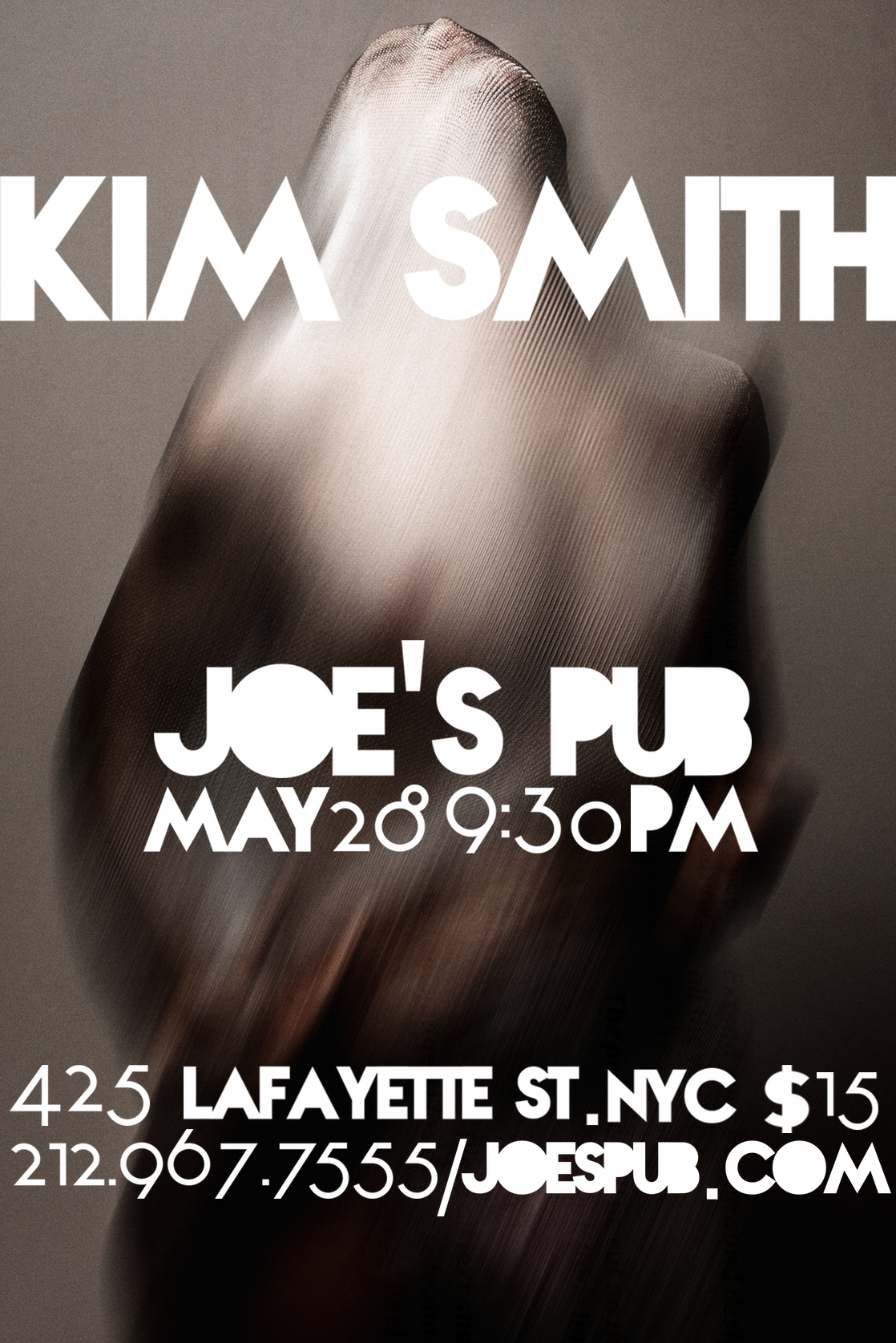 Kim Smith live at Joe's Pub NYC, May 28, 9:30PM
