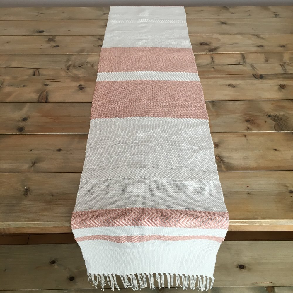 Table Runner Dyed with Madder Root