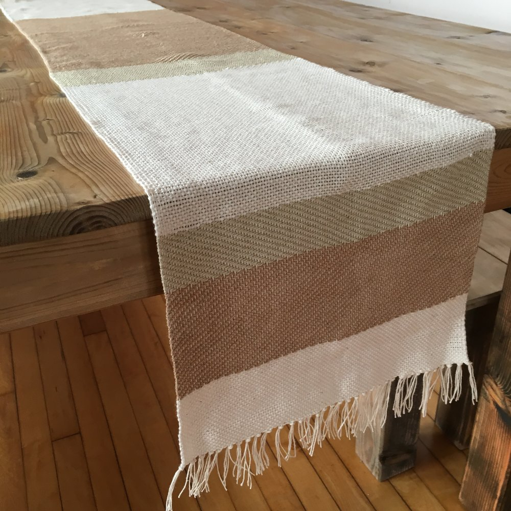 Organic Cotton Handwoven Tablerunner